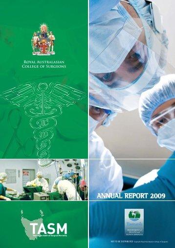 TASM Annual Report 2009 - Royal Australasian College of Surgeons