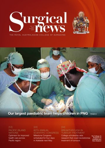 October 2010 - Royal Australasian College of Surgeons