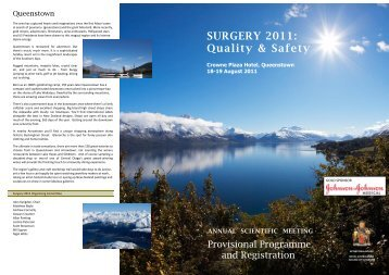 SURGERY 2011: - Royal Australasian College of Surgeons