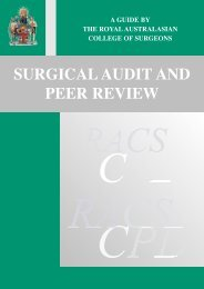 surgical audit and peer review - Royal Australasian College of ...
