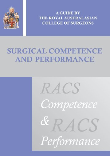 Surgical Competence and Performance - Royal Australasian ...