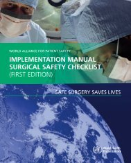 IMPLEMENTATION MANUAL SURGICAL SAFETY CHECKLIST ...