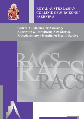 General Guidelines for Assessing, Approving and Introducing New