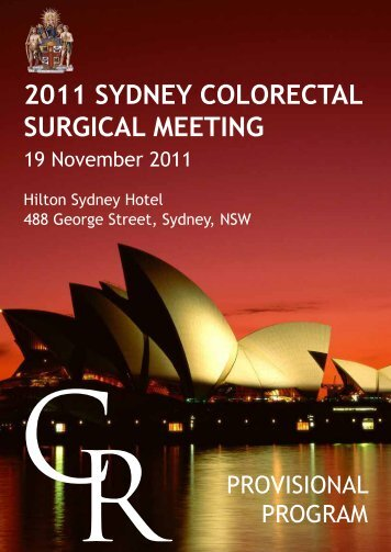 2011 sydney colorectal surgical meeting - Royal Australasian ...