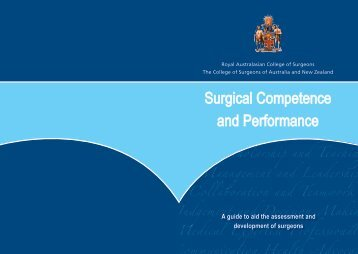 Surgical Competence and Performance Guide - Royal Australasian ...