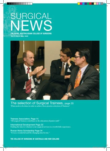 May 2009 - Royal Australasian College of Surgeons