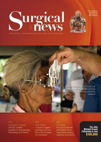 Surgical News - volume 11 number 2 March 2010 - Royal ...