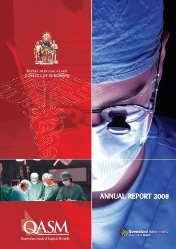 ANNUAL REPORT 2008 - Royal Australasian College of Surgeons