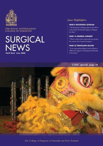 June 2008 - Royal Australasian College of Surgeons