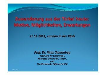 Präsentation Prof. Dr. Tomanbay