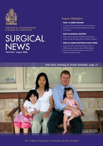 August 2008 - Royal Australasian College of Surgeons