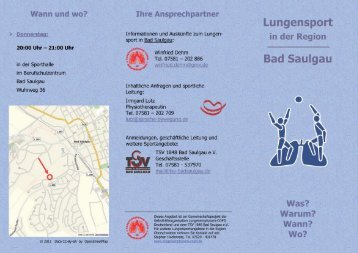 Info-Flyer - TSV 1848 Bad Saulgau eV