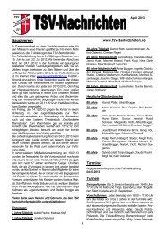 Vereinszeitung April 2013 - TSV Bertoldshofen