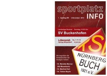 SV Buckenhofen - TSV Nürnberg-Buch 1921 eV