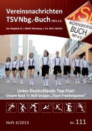 Vereinsnachrichten Heft IV 2013 - TSV Nürnberg-Buch 1921 eV