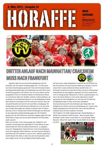 DRITTER ANLAUF NACH MAINHATTAN ... - TSV Crailsheim