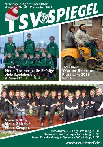 www.tsv-elstorf.de Neue Trainer, tolle Erfolge viele Berichte … Neue ...