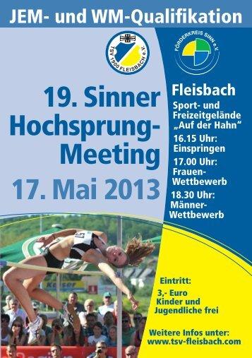 19. Sinner Hochsprung- Meeting 17. Mai 2013 - TSV Fleisbach