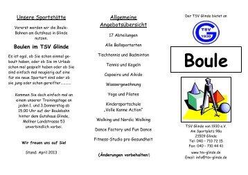 Unsere Sportstätte Boulen im TSV Glinde Allgemeine ...