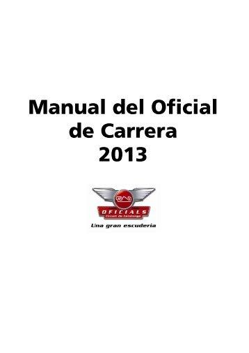 Manual del Oficial de Carrera 2013 - Circuit de Catalunya