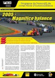 Balance temporada Jóvenes Pilotos 2005 - Circuit de Catalunya