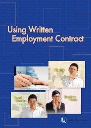 Using Written Employment Contract