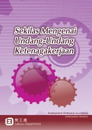Employment Ordinance at a Glance (Indonesian) - 勞工處