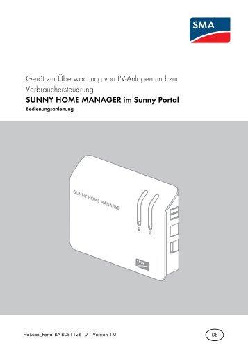SUNNY HOME MANAGER im Sunny Portal - SMA Solar Technology ...