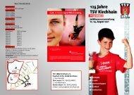 Flyer zum Festprogramm - TSV Kirchhain