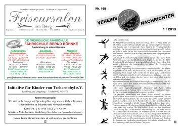 Vereinszeitung Nr. 165 1 / 2013 - TSV-Lütjenwestedt