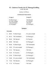 E2 - Junioren Turnier des SV Planegg-Krailling - TSV Großhadern