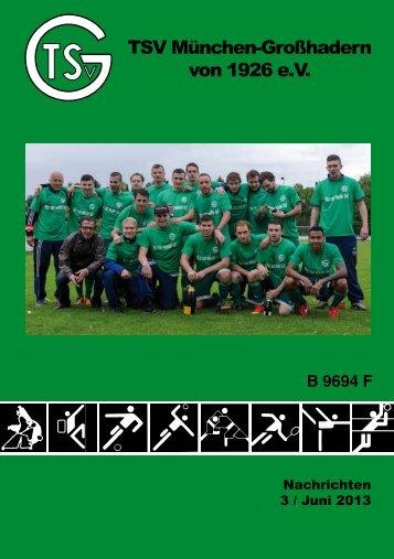 Vereinsheft 3/2013 - TSV Großhadern