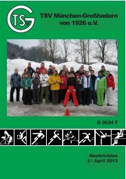 Vereinsheft 2/2013 - TSV Großhadern