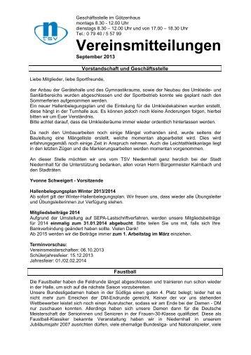 Vereinsmitteilungen 09.2013.pdf - TSV-Niedernhall