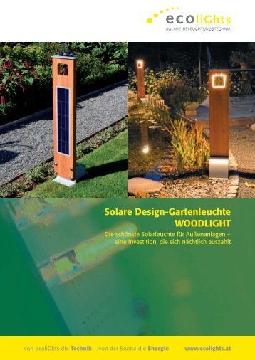 Datenblatt WOODLIGHT von Ecolight - Mare Solar