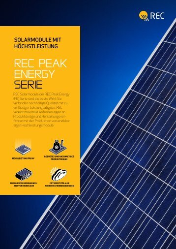 rec Peak energy SerIe - McCormick Solar GmbH