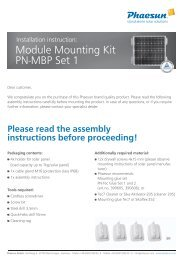 Module Mounting Kit PN-MBP Set 1 - Solarbag-Shop