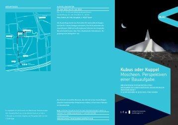 Kubus oder Kuppel Moscheen. Perspektiven einer Bauaufgabe. - M:AI