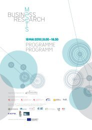 Programme_Business_meets_Research - Revue Technique ...