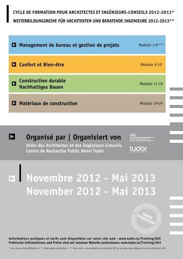 plaquettes des formations pdf - Revue Technique Luxembourgeoise