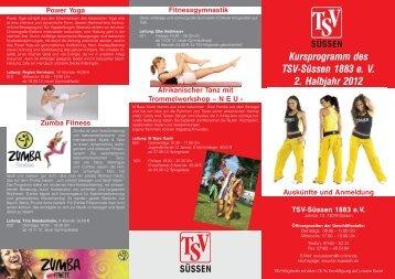 Kursprogramm 2.Halbjahr 2012 - TSV Süßen 1883 eV