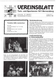 5. Ausgabe 1988 - TSV Wernersberg