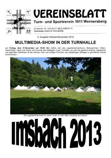 Oktober - 5. Ausgabe 2013 (PDF [20,40 MB]) - TSV Wernersberg