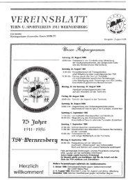 5. Ausgabe 1986 - TSV Wernersberg