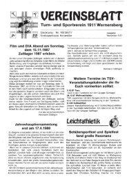 November - 5. Ausgabe 1987 - TSV Wernersberg