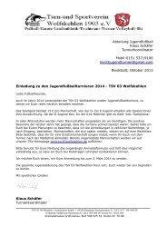 Abteilung Jugendfußball Klaus Schäfer Turnierkoordinator Mobil ...