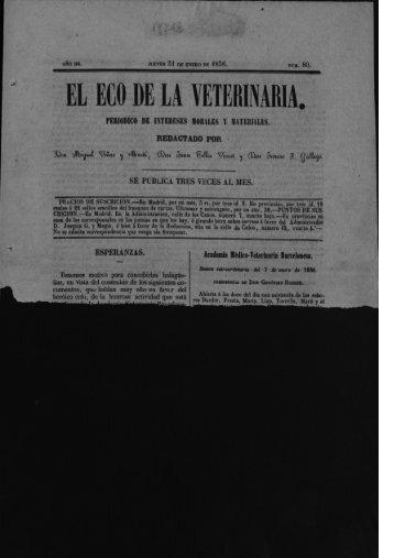EL ECO DE LA VETERINARIA. - Helvia