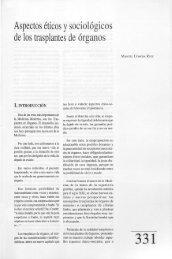 Aspectos éticos y sociológicos de los trasplantes de órganos - Helvia