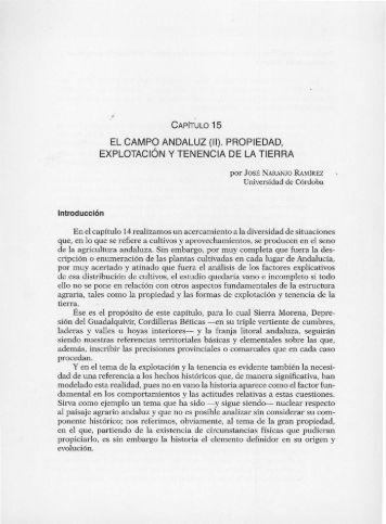 PROPIEDAD, EXPLOTACiÓN Y TENENCIA DE LA TIERRA - Helvia ...