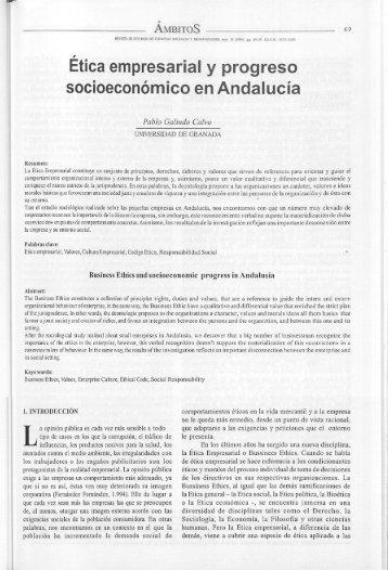 Etica empresarial y progreso socioeconómico en Andalucía - Helvia